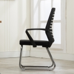 Home Leisure Computer Chair Office Staff Conference Chair Black Frame Fixed Chair (Black)