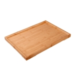 Bamboo Right Angle Tea Tray Tea Table, Size: 22x14cm