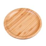 Household Creative Simple Round Bamboo Tea Tray Mini Tea Table, Diameter: 25cm