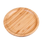 Household Creative Simple Round Bamboo Tea Tray Mini Tea Table, Diameter: 30cm