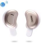 REMAX TWS-1 Half Moon Shaped Bluetooth 4.2 Wireless Bluetooth Earphone with Charging Box (Gold)