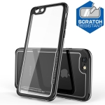 Electroplated Frame Toughened Glass Case for iPhone 6 Plus (Black)