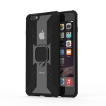 Iron Warrior Shockproof TPU + PC Protective Case for iPhone 6 Plus, with 360 Degree Rotation Holder(Black)