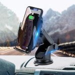 HAMTOD C20 15W Adjustable QI Smart Sensor Car Wireless Charging Holder for 4.6-7 inch Mobile Phones, with Suction Cup