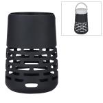 EBSC180-2 Portable Bluetooth Speaker Silicone Case Sling Cover for Bose SoundLink Revolve+ (Black)