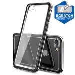 Electroplated Frame Toughened Glass Case for iPhone 8 / 7 (Black)
