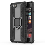 Iron Warrior Shockproof TPU + PC Protective Case for iPhone 8, with 360 Degree Rotation Holder(Black)