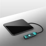 Basix C2 10W Ultrathin Metal Square Mirror Surface Fast Charging Wireless Charger (Black)