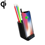 Hongsamde CD-1057 10W QI Pen Holder Shape Wireless Charger for All QI Wireless Charging Devices, with USB-C / Type-C & Dual USB Interfaces