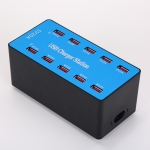 A5B 100W 10 Ports USB Smart Charging Station with Indicator Light AC100-240V