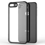 Transparent Acrylic + TPU Airbag Shockproof Case for iPhone 8 Plus & 7 Plus (Black)