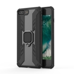 Iron Warrior Shockproof TPU + PC Protective Case for iPhone 7 Plus, with 360 Degree Rotation Holder(Black)