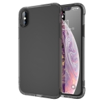 Transparent TPU Airbag Shockproof Case for iPhone XS Max (Black)