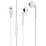 GL069 8 Pin Port Bluetooth Module Pop-up Window Wired Stereo Earphones with Mic (White)