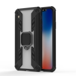 Iron Warrior Shockproof TPU + PC Protective Case for iPhone XS Max, with 360 Degree Rotation Holder(Black)
