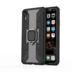 Iron Warrior Shockproof TPU + PC Protective Case for iPhone XR, with 360 Degree Rotation Holder(Black)