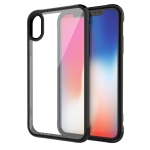 Transparent Acrylic + TPU Airbag Shockproof Case for iPhone XS / X (Black)