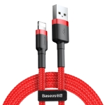 Baseus 2A 8 Pin Cafule Tough Charging Cable, Length: 3m(Red)