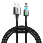 Baseus 1.5A 8 Pin to USB Zinc Magnetic Charging Cable, Length: 2m(Black)