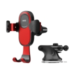 JOYROOM JR-ZS193 Car Air Outlet + Instrument Panel Gravity Phone Bracket (Red)