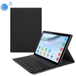 A18 Linen Texture Detachable Magnetic Plastic Bluetooth Keyboard Protection Leather Case for Huawei MediaPad M5 10.8 Pro / 10.8, with Stand(Black)