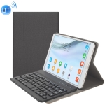A84 Linen Texture Detachable Magnetic Plastic Bluetooth Keyboard Protection Leather Case for Huawei MediaPad M5 8, with Stand(Black)