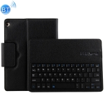 HW105 Detachable Plastic Bluetooth Keyboard + Litchi Texture PU Leather Protective Cover for Huawei Youth Editon MediaPad M3 Lite 10.1, with Bracket (Black)