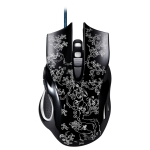 ZGB 169 USB 2400DPI Four-speed Adjustable LED Backlight Wired Optical E-sport Gaming Mouse with Counter Weight, Length: 1.45m (Black)