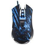 ZGB V13 USB 2400DPI Four-speed Adjustable Laser Engraving Pattern Wired Optical Gaming Mouse with LED Breathing Light, Length: 1.45m (Black)