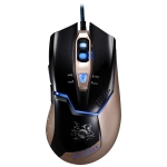 ZGB V15 USB 2400DPI Four-speed Adjustable Asymmetric Wired Optical Gaming Mouse with LED Breathing Light, Length: 1.8m (Black)