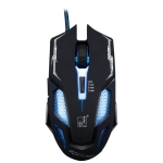 ZGB V10 USB 6-keys 2400DPI Four-speed Adjustable Backlight Wired Optical Gaming Mouse, Length: 1.45m (Black)