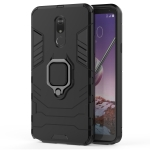 PC + TPU Shockproof Protective Case for LG Q Stylo 5, with Magnetic Ring Holder (Black)