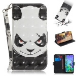 3D Painting Angry Bear Pattern Coloured Drawing Horizontal Flip Leather Case for LG Q60, with Holder & Card Slots & Wallet