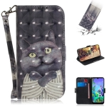 3D Painting Embrace Cat Pattern Coloured Drawing Horizontal Flip Leather Case for LG Q60, with Holder & Card Slots & Wallet