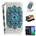 3D Painting Peacock Wreath Pattern Coloured Drawing Horizontal Flip Leather Case for LG Q60, with Holder & Card Slots & Wallet