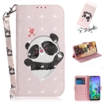3D Painting Love Bear Pattern Coloured Drawing Horizontal Flip Leather Case for LG Q60, with Holder & Card Slots & Wallet