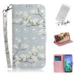 3D Painting Mognolia Pattern Coloured Drawing Horizontal Flip Leather Case for LG Q60, with Holder & Card Slots & Wallet