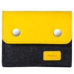 ROCK Shockproof Wool Felt Protective Storage Shell Bag Soft Sleeve, Size: 11×9.5×4.5cm (Black Yellow)