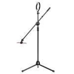 Desktop Mobile Phone Overhead Bracket Photography Micro-Course Video Recording Live Broadcasting Tripod,Single-camera Setup + Light Supplementary Lamp