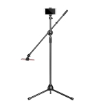 Desktop Mobile Phone Overhead Bracket Photography Micro-Course Video Recording Live Broadcasting Tripod,Dual-camera Setup