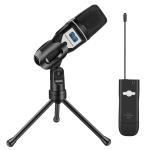 Yanmai UF 6 USB Wireless Condenser Microphone with Tripod Holder & Receiver (Black)