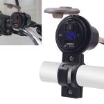 CS-587 12V 2.4A Motorcycle Waterproof Digital Display Voltage Mobile Phone USB Charger Holder(Blue)