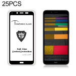 25 PCS MIETUBL Full Screen Full Glue Anti-fingerprint Tempered Glass Film for Xiaomi Redmi 7A (Black)