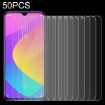 50 PCS 0.26mm 9H 2.5D Tempered Glass Film for Xiaomi Mi CC9