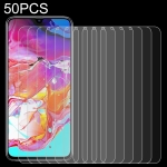 50 PCS 0.26mm 9H 2.5D Tempered Glass Film for Galaxy A70, No Retail Package