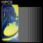 10 PCS 0.26mm 9H 2.5D Tempered Glass Film for Galaxy A80
