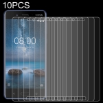 10 PCS 0.26mm 9H 2.5D Tempered Glass Film for Nokia 8