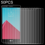 50 PCS 0.26mm 9H 2.5D Tempered Glass Film for LG G4