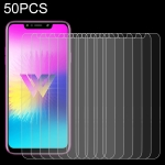 50 PCS 0.26mm 9H 2.5D Tempered Glass Film for LG W10, No Retail Package