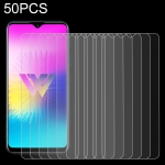 50 PCS 0.26mm 9H 2.5D Tempered Glass Film for LG W30 Pro, No Retail Package